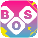BOS 2015 icon: white letters B O S in diamonds over a magenta to cyan background. Yellow lines and shapes at the margin suggest the streets and warehouses of Bushwick.