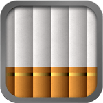 icon, six cigarettes lined up vertically against a gray background
