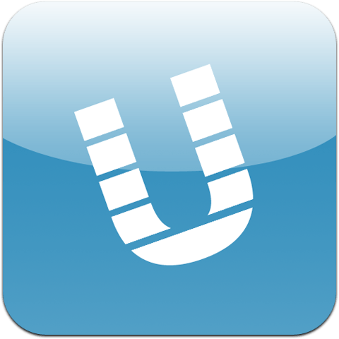 Icon: A white striped letter U against a teal gradient